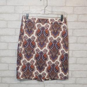 J.Crew paisley print skirt size 0